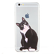 Etui Til Apple Mønster Bakdeksel Katt Myk TPU til iPhone 6s Plus iPhone 6s iPhone 6 Plus iPhone 6 iPhone SE/5s iPhone 5