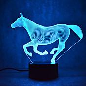 말을 터치 디밍 3d 주도 밤 빛 7colorful 장식 분위기 램프 참신 조명 조명