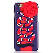 용 DIY 케이스 뒷면 커버 케이스 동물 꽃장식 하드 인조 가죽 용 Apple 아이폰 7 플러스 아이폰 (7) iPhone 6s Plus iPhone 6 Plus iPhone 6s 아이폰 6