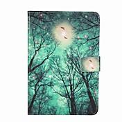 Para Soporte de Coche Cartera con Soporte Flip Diseños Funda Cuerpo Entero Funda Árbol Dura Cuero Sintético para AppleiPad Mini 4 Mini