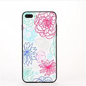 Para con Soporte Diseños Funda Cubierta Trasera Funda Flor Dura Policarbonato para AppleiPhone 7 Plus iPhone 7 iPhone 6s Plus iPhone 6