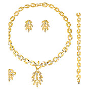 Mujer Juego de Joyas Pendientes / pulsera Collar / anillo Moda Euramerican Boda Fiesta Ocasión especial Cumpleaños Pedida Diario