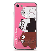 Funda Para Apple iPhone 7 Plus iPhone 7 con Soporte Diseños Funda Trasera Oso Panda Caricatura Dura ordenador personal para iPhone 7 Plus