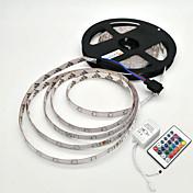 5 m Sets de Luces 300 LED SMD 2835 1 Controlador remoto de 24 teclas RGB Impermeable / Decorativa 12 V 1 juego / IP65