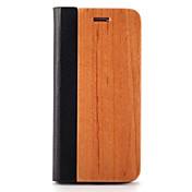 Funda Para Apple iPhone 7 Plus iPhone 7 Soporte de Coche con Soporte Magnética Origami Funda de Cuerpo Entero Color sólido Dura De madera