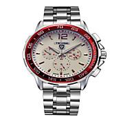 Tevise Hombre Pareja El reloj mecánico Reloj de Moda Cuarzo Calendario Resistente al Agua Luminoso Acero Inoxidable Banda Vintage Casual