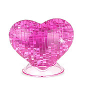 Puzzles 3D Puzzles de Cristal Rosas Corazón Divertido El plastico Clásico Niños Unisex Regalo