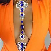 Cinturones metálicos / Para Cuerpo / Collar para Vientre - Resina Arco iris Vintage, Bohemio, Moda Mujer Blanco / Rosa / Azul Joyería Corporal Para Boda / Fiesta / Ocasión especial / Aniversario
