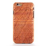 Etui Til iPhone-6s iPhone 6 Apple Mønster Inngravert Bakdeksel Trefiber Geometrisk mønster Hard Tre til iPhone 6s iPhone 6