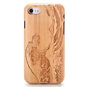 Etui Til Apple iPhone 7 Plus iPhone 7 Mønster Inngravert Bakdeksel Trefiber Tegneserie Hard Tre til iPhone 7 Plus iPhone 7 iPhone 6s Plus