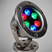6 W Luces Bajo el Agua Recargable RGB 12 V 6 Cuentas LED