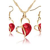 Mujer Circonita Conjunto de joyas - Zirconia Cúbica, Brillante, Rosa Oro Plateado Corazón Clásico, Estilo Simple, Moda Incluir Collares con colgantes / Los sistemas nupciales de la joyería Morado