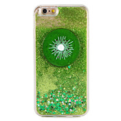 Etui Til Apple iPhone 7 Plus iPhone 7 Flommende væske Mønster Bakdeksel Frukt Glimtende Glitter Hard PC til iPhone 7 Plus iPhone 7 iPhone