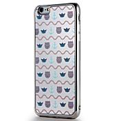 Para la manzana iphone7 7 más la cubierta de la cubierta platean las líneas del caso de la contraportada del patrón del espejo / las