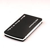2.5 pulgadas usb2.0 sata caja móvil del disco duro