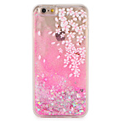 Funda Para Apple iPhone 7 Plus iPhone 7 Líquido Diseños Funda Trasera Flor Brillante Dura ordenador personal para iPhone 7 Plus iPhone 7