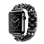 Reloj de la venda para el reloj de la manzana 38m m 42m m acero inoxidable pulsera del reemplazo mariposa hebilla