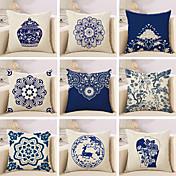 1 PC Algodón / Lino Cobertor de Cojín / Funda de almohada, Floral / Novedad / Clásico Diseño / Clásico / Retro