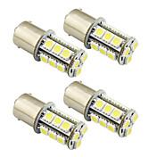 4pcs 1156 / ba15s / 1157 3w ledet lyspære 18 smd 5050 baklys / bremse / sving / stopp lys dc 12v hvit / varm hvit