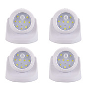 4stk LED Night Light Batteri Smart Menneskekroppssensor