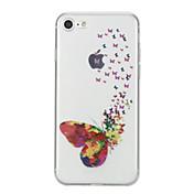 Funda Para Apple iPhone X iPhone 8 Diseños Funda Trasera Mariposa Suave TPU para iPhone X iPhone 8 Plus iPhone 8 iPhone 7 Plus iPhone 7