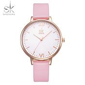 SK Mujer Reloj Pulsera Reloj de Vestir Reloj de Moda Chino Cuarzo Resistente al Agua Resistente a los Golpes Piel PU Banda Encanto Lujo