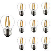 10pcs 4W 360lm E26 / E27 LED-glødepærer G45 4 LED perler COB Mulighet for demping Dekorativ Varm hvit 220-240V