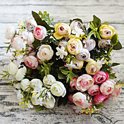 Kunstige blomster 1 Gren Enkel Stil Camellia Bordblomst