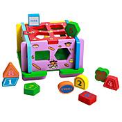 Tienda de Juego Puzles de Madera Para regalo Bloques de Construcción Madera Natural 3-6 años de edad Juguetes