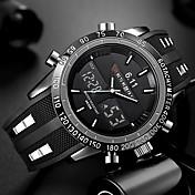 Hombre Reloj de Pulsera Chino Calendario / Resistente al Agua / Creativo Silicona Banda Encanto / Lujo / Casual Negro