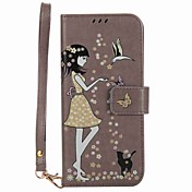 Funda Para Samsung Galaxy S8 Plus S8 Cartera Soporte de Coche con Soporte Fosforescente Flip Diseños Cuerpo Entero Chica Sexy Dura Cuero
