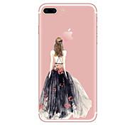Para iPhone X iPhone 8 iPhone 8 Plus Carcasa Funda Transparente Diseños Cubierta Trasera Funda Chica Sexy Suave TPU para Apple iPhone X