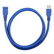 USB 3.0 Cable de extensión, USB 3.0 to USB 3.0 Cable de extensión Macho - Hembra 1,8 M (6 pies)