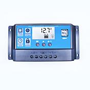 Pwm solar lader controller 40a 12v 24v dual usb 5v 2a utgang solcelle regulator lcd for blybatterier åpne agm gel