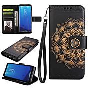 케이스 제품 Samsung Galaxy S8 Plus S8 지갑 카드 홀더 스탠드 플립 풀 바디 만다라 하드 인조 가죽 용 S8 S8 Plus S7 edge S7 S6 S5 S4 S3