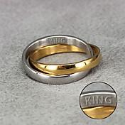 Personlig gave-Ringe-Titanium Stål- til-