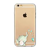 Funda Para Apple iPhone X iPhone 8 Plus Transparente Diseños Funda Trasera Elefante Suave TPU para iPhone X iPhone 8 Plus iPhone 8 iPhone