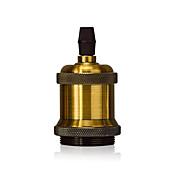 1 pcs e26 / e27 tornillo bombilla socket edison retro soporte de la lámpara colgante sin cable e interruptor