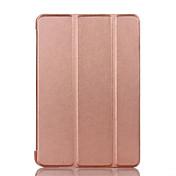 Cubierta del caso para el cojín favorable 10.5 del iPad (2017) cuero duro de la PU del color sólido del caso completo del cuerpo del tirón