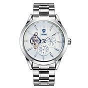 Hombre Reloj de Moda El reloj mecánico Chino Cuerda Automática Calendario Resistente al Agua Luminoso Noctilucente Acero Inoxidable Banda