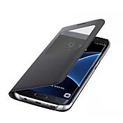 Funda Para Samsung Galaxy A5(2017) A3(2017) con Ventana Funda de Cuerpo Entero Color sólido Dura Cuero de PU para A3 (2017) A5 (2017) A7