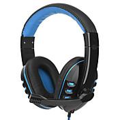 SY733MV Cinta Con Cable Auriculares Dinámica El plastico De Videojuegos Auricular Con Micrófono / Estéreo Auriculares