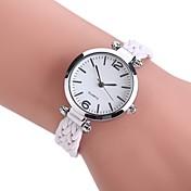 Mujer Cuarzo Reloj de Pulsera Chino Reloj Casual PU Tejido Banda Vintage Casual Bohemio Reloj de Vestir Elegant Moda Negro Blanco Azul