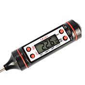 probador del termómetro digital de la pantalla para cocinar (de color negro)
