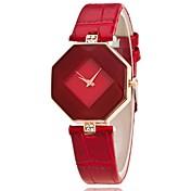 Dame Unike kreative Watch Armbåndsur Selskapsklokke Moteklokke Hverdagsklokke Kinesisk Quartz Hverdagsklokke PU Band Sjarm Fritid Elegant