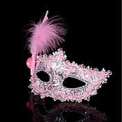 1pc liten hue hår band for Halloween kostyme fest den flate gull sølv maskerade maske fjær maleri maske parti liten prinsesse sminke