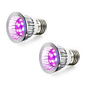 2pcs 4W 165-190lm E14 GU10 E27 Voksende lyspære 10 LED perler SMD 5730 Blå Rød 85-265V