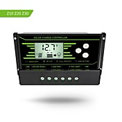 Y-solar pwm 20a solenergi ladestyring 12v 24v auto med baklys LCD-skjerm dual usb 5v solregulator lader z20