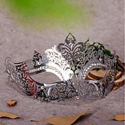 1pc para la mascarada de halloween traje de fiesta mascarada fiesta de cumpleaños decoraciones de vacaciones metal hueco máscara de