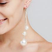 Dame Dråpeøreringer Imitert Perle Personalisert Luksus Sexy Erklæringssmykker Movie Smykker Euro-Amerikansk Mote Kobber Sirkelformet